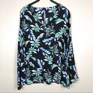Lush floral blouse